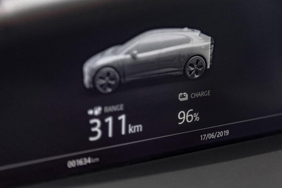 E-Auto Display Reichweite